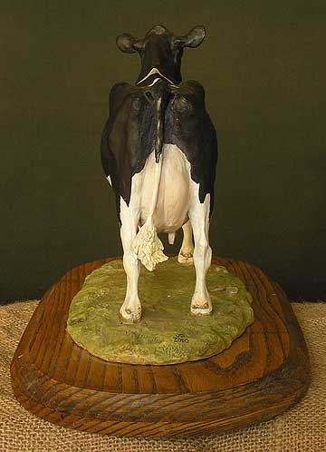 British Holstein Cow - Rear View
